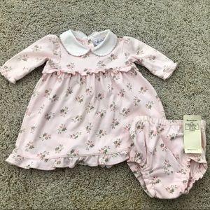 Ralph Lauren Baby Pink Floral Dress & Diaper Cover